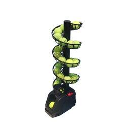 Máquina de lanzamiento de tenis, práctica individual de autoayuda, con receptor de red, entrenamiento de múltiples bolas, asistencia