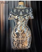 Luxury Crystals Prom Dresses 2020 Mermaid Dubai Vestidos De Fiesta Special Illusion Cocktail Dresses Women Party Night Gowns