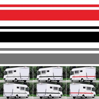 5PCS Motorhome Vinyl Stripes Graphics Stickers Decals Camper Van Car Stripes