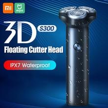 Elektrikli tıraş makinesi taşınabilir saç düzeltici IPX7 3D yüzen jilet tipi C şarj yıkanabilir jilet 3 bıçaklar sakal tıraş