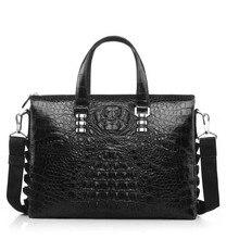 yinshang новый крокодил сумки мужская сумка свободного покроя мужчины сумка сечение крокодиловая кожа мужчины портфель модные кожаные мужские сумки