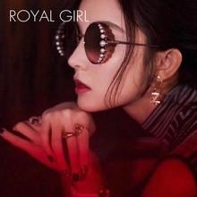 ROYAL GIRL Luxury Round Sunglasses Women 2019 New Fashion Pearl Sun Glasses Female Gradient Eyewear Metal Frame UV400 ss772 стоимость