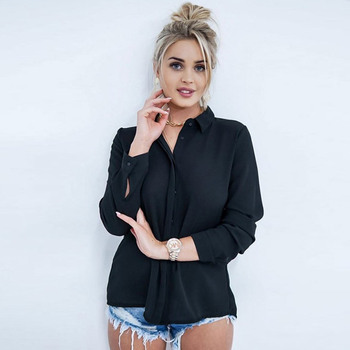 FLEUR WOOD Blouse Women Lace Sexy Blouse Shirt Backless Splice Womens Tops And Blouses Lapel blusas mujer de moda 2020 2