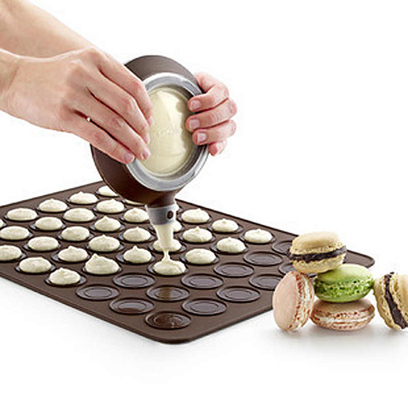 2 Sheet Silicone Tray Non Stick Oven Liner Macaron Mould Macaroon Baking Mat