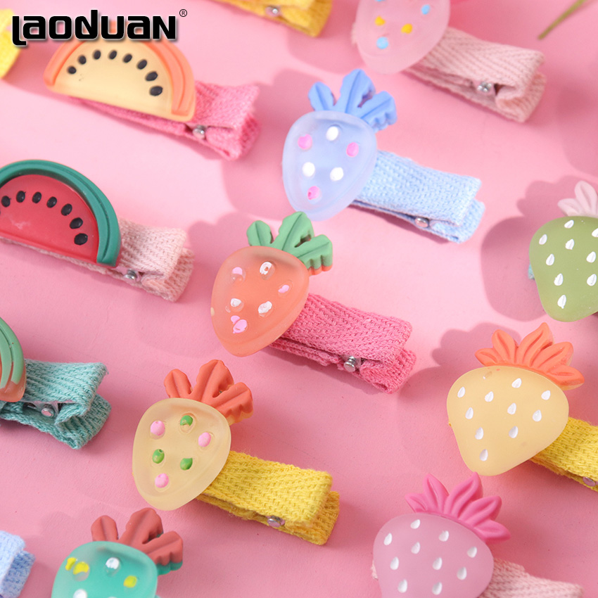 5PCS Girls Cute Cartoon Hair Clips Sweet Fruit Hair Ornament Hairpin Barrette Hairgrips Hair Accessories