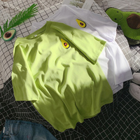 Niuyouguo green T shirt women's short sleeve loose summer 2019 new Korean version of large