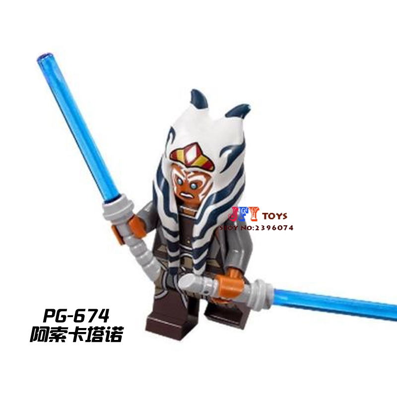 Single Sale Superhero Ahsoka Tano Building Blocks Model Bricks Toys For Children Action Figures