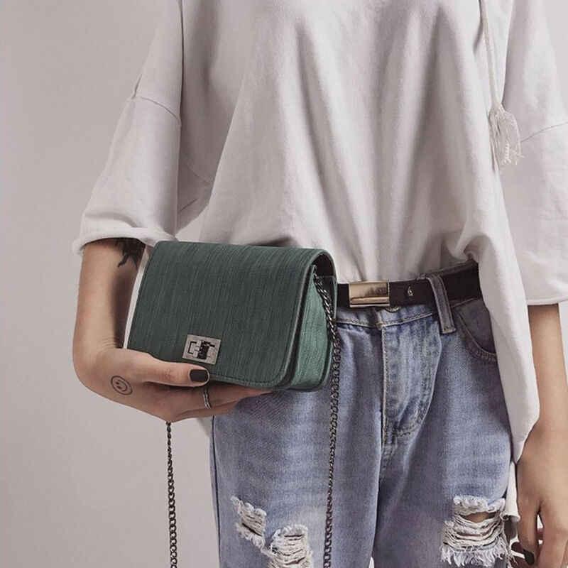 패션 간단한 작은 사각형 가방 여성 디자이너 핸드백 2019 고품질 pu 가죽 체인 휴대 전화 어깨 가방