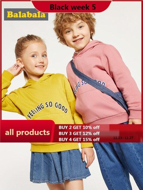 Balabala vêtements dautomne pour enfants, sweat shirt dautomne pour filles et garçons, nouveau style, 2019, vêtements à capuche