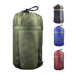 Outdoor Waterproof Compression Stuff Sack Convenient Sleeping Bag Sundries Drawstring Storage Pouch