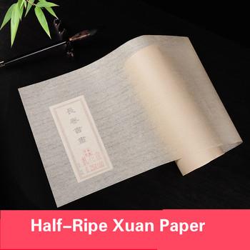 20M 50M 100M papier Xuan półdojrzały papier ryżowy pulpa bambusowa chińska kaligrafia papier cykada skrzydła papier ryżowy antyczny Rijstpapier tanie i dobre opinie suvtoper