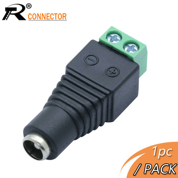 R Connector 1pc Power DC Jack CCTV System Video Balun 5.5*2.5mm DC Power Female Terminals Connector Adapter image