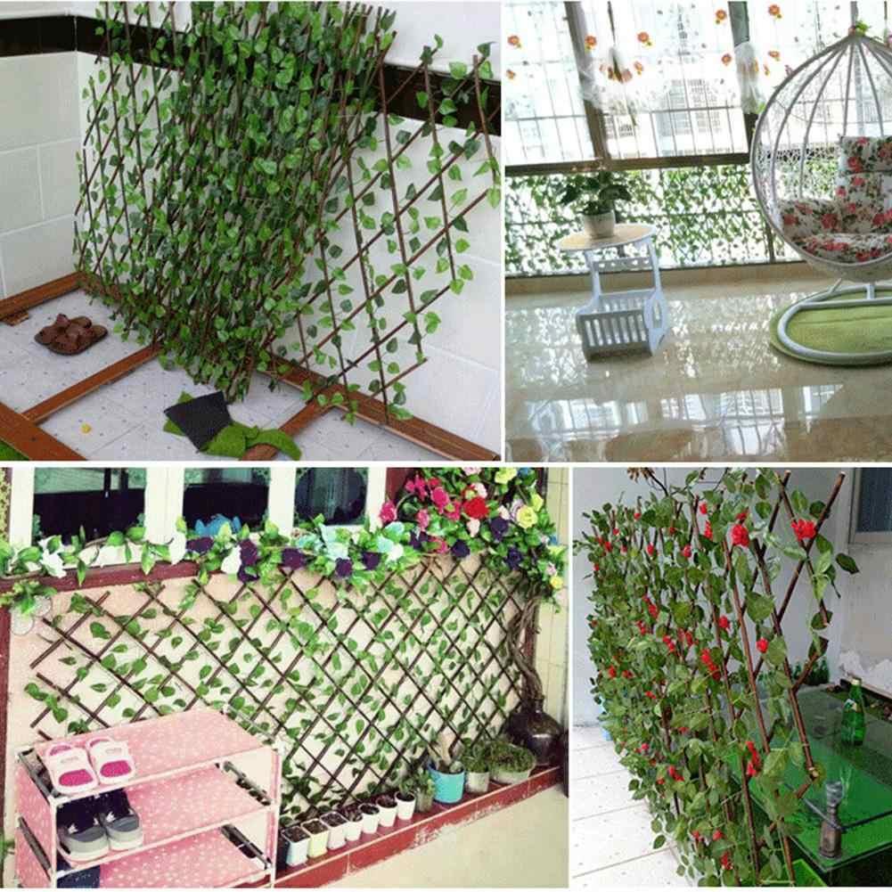 40cm 70cm feuilles vertes simulation cloture exterieure saule retractable cloture en bois jardin decoratif cour cloture