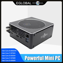 EGLOBAL Top Gaming Computer Intel Core i9 i7 8850H 6 Core 12 Threads 2 * M.2 NVME SSD + 1*2,5 SATA Mini PC Win10 Pro HDMI AC WiFi BT