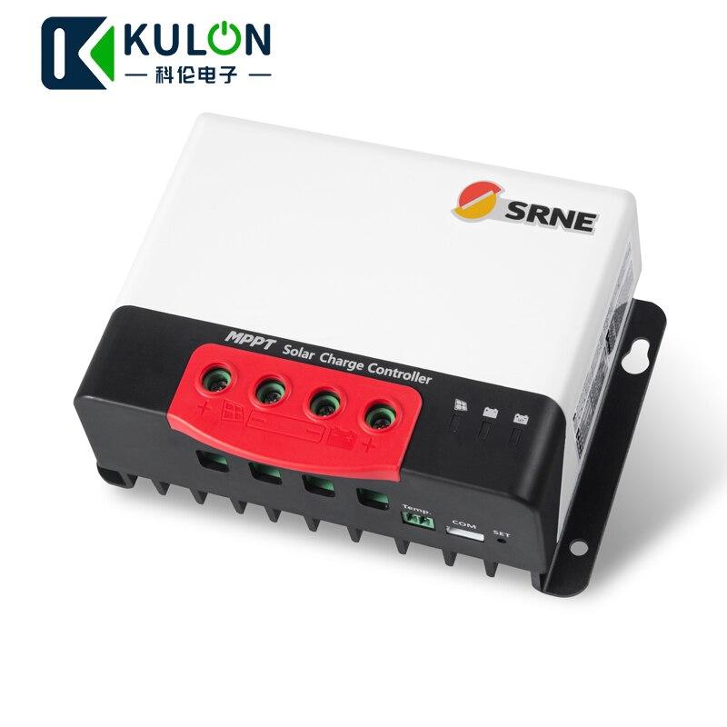 SRNE MC2420N10 20A 12v 24v make sky blue MPPT Solar Charge Controller for 18650 lithium batteries solar regulator-in Solar Controllers from Home Improvement