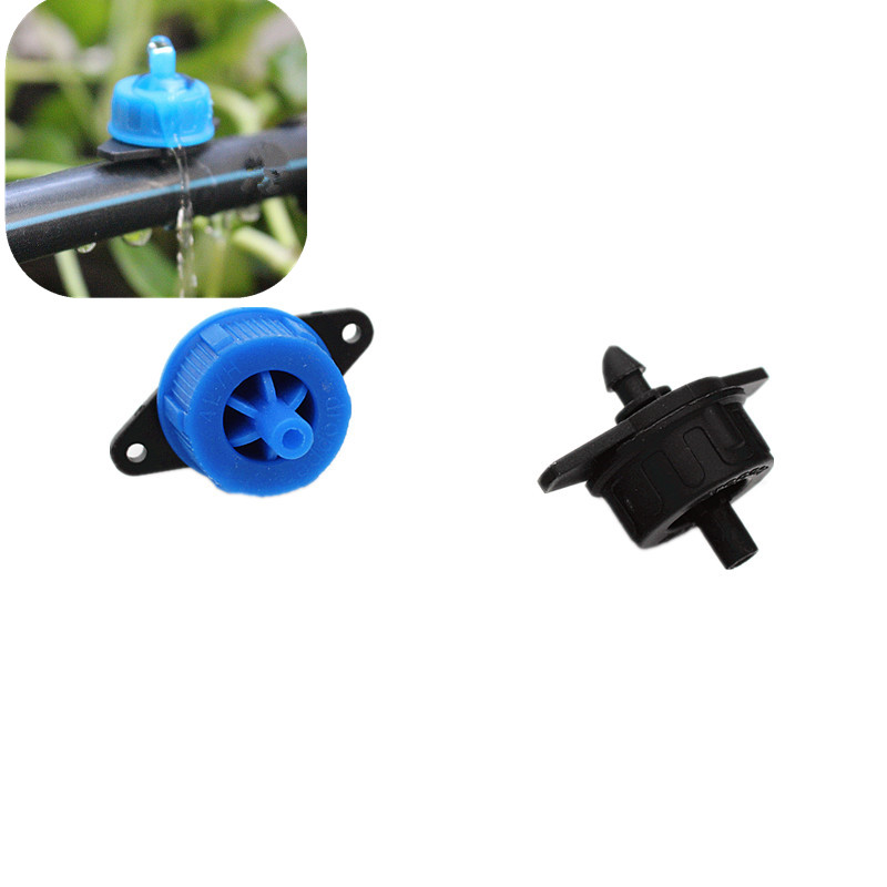 Fast Shipping 100pcs 4L/H 8L/H Pressure Compensating Drip Irrigation Emitter Turbo Style On Line Dripper Garden Watering