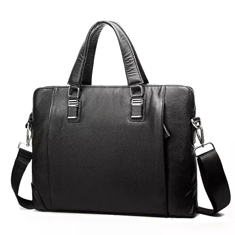 Men Business Briefcase Leather Briefcase Folders Laptop Bags Leather Briefcase Men Tote Bolso Hombre