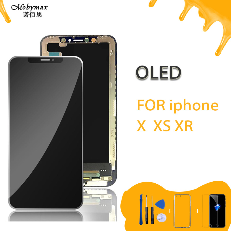 AAA+++ For IPhone X S XR LCD Display For Tianma OLED With 3D Touch Screen Digitizer Replacement Assembly Parts Black 100% Tested