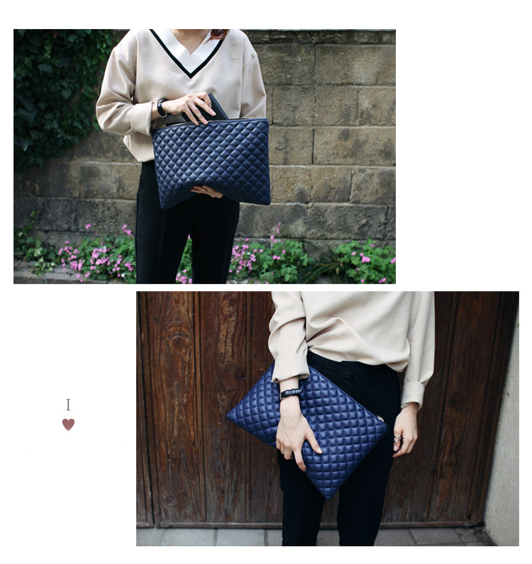HIGHREAL Diamond Lattice Women Day Clutch Bag PU Leather Women Clutches Ladies Hand Bags Envelope Bag Luxury Party Evening Bags