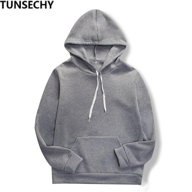 19 women's long-sleeved plain hooded sweatshirt plain multi-color men's and women's casual pullover hoodie 12