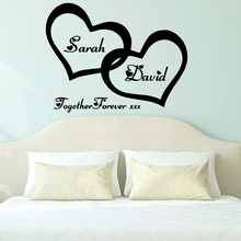 Hot Custom name together forever Waterproof Wall Stickers Art Decor Living Room Children Decal Home