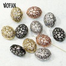 5 шт овальные циркониевые металлические бусины Смешанные цвета