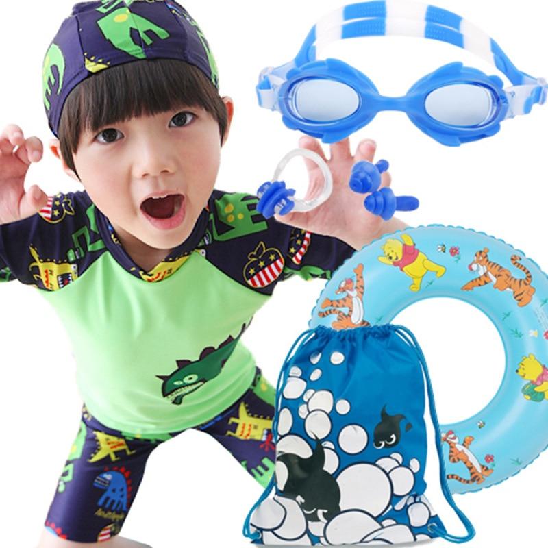 Children BOY'S Boy Bathing Suit Split Type Swimming Trunks Baby Big Boy Sun-resistant Swimming Suit Summer Sun-resistant Swimmin