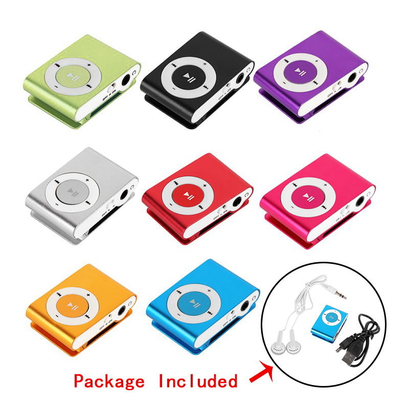USB Metal Mini Clip Mp3 Player Sport Portable Music Digital TF/SD Card Slot Player Mp 3 Player Card Running Protable Mini Mp3 Mu