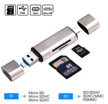 Alle In 1 Type C Kaartlezer Sdhc Sd Tf Microsd Card Reader Micro Usb Otg Adapter Voor Macbook Voor huawei Xiaomi Android Telefoon Pc