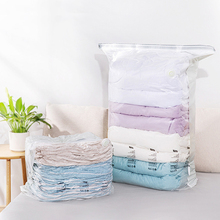 High Capacity Vacuum Bag Clothes Quilt Transparent Valve Storage Reusable Compressed Organizer Space Saving Household Supplies