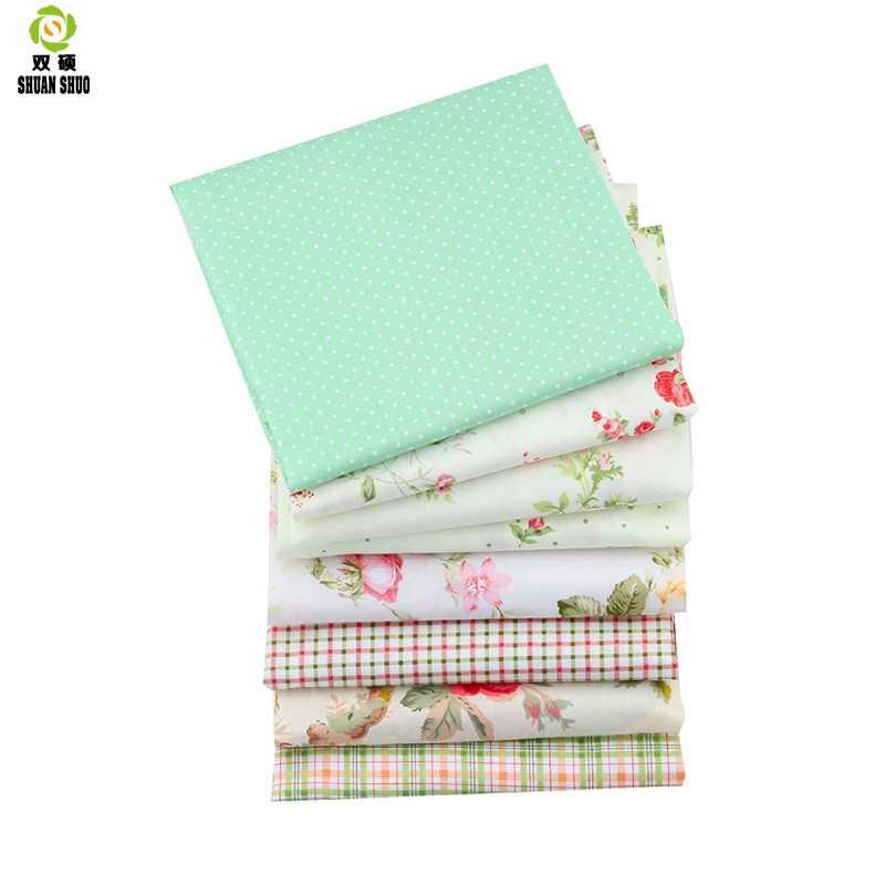 Shuanshuo, 8 шт./лот, Цветочная Лоскутная Ткань, тканевая ткань ручной работы, для шитья, для детей и малышей, простыни, платье, 40*50 см
