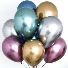 New 50pcs/lot 12inch Gold Chrome Metallic Latex Balloons Wedding Inflatable Balloon Happy Birthday Party Decorations Kids Globos 10pcs 12inch silver gold ballon chrome metallic latex balloons birthday party wedding decoration inflatable balloon globos new
