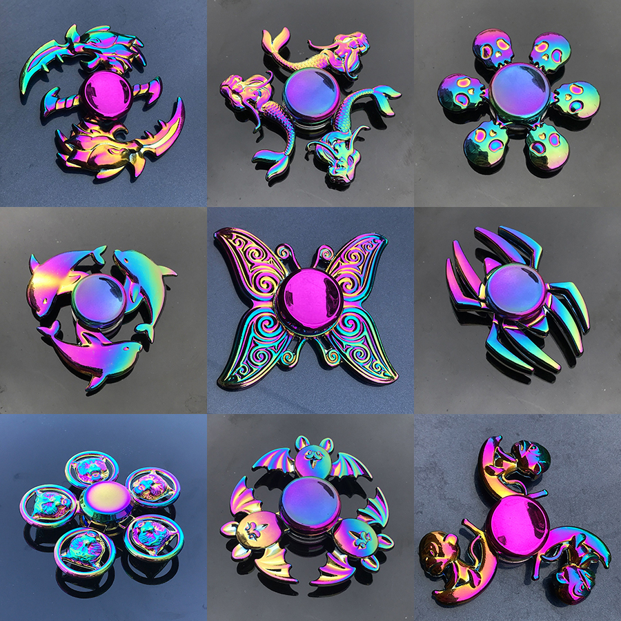 Spinner-Bearing Hand-Fidget-Toys Finger-Spinner Metal-Animals Colorful Stress-Toy Hand-Relieves