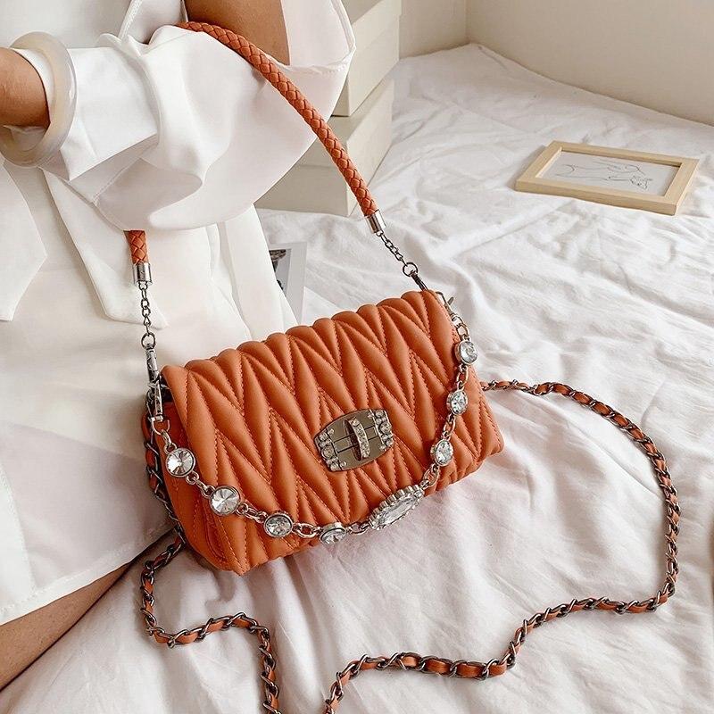 Art and Fresh Student Bag 2021 New Fashion Shopping Lady Messenger Bag High Quality Simple Lady Shoulder Bag Beige Handbag