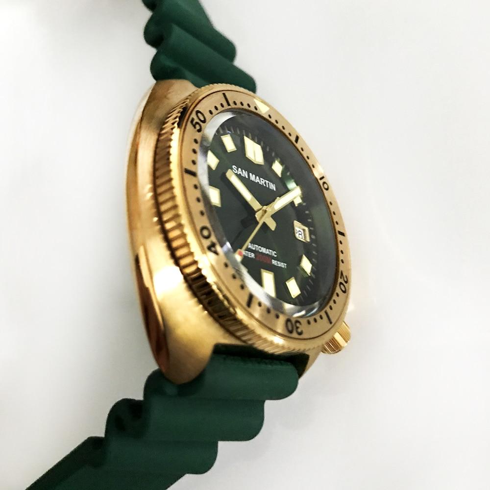 San martin novo bronze atum 6105 relógios