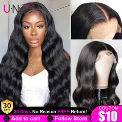 Unice Hair 13*4 Lace Front Human Hair Wig Pre Plucked With Baby Hair Brazilian Remy Body Wave Wig 5x5 HD lace Closure Wig