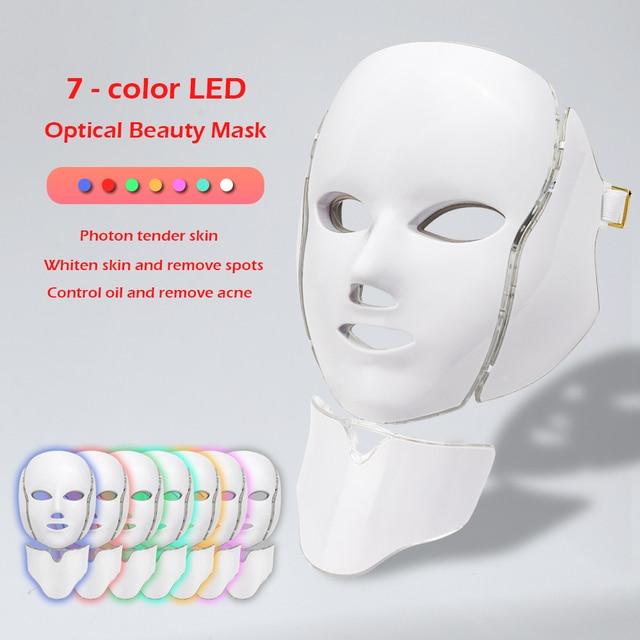 7 Colors Led Facial Mask with Neck Skin Rejuvenation  2