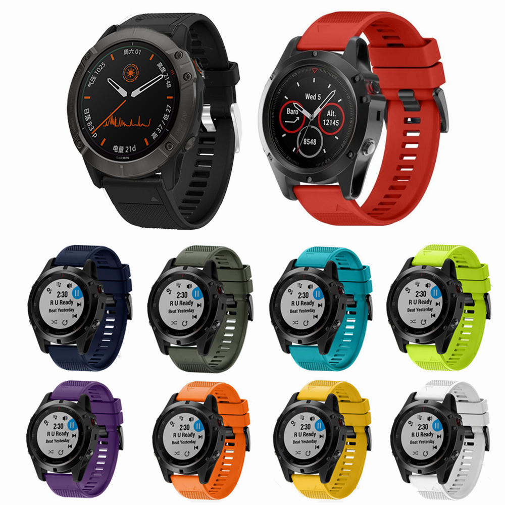 For Garmin Fenix6 6s 6x Pro Solar Smart Watch Strap Silicone Band For Garmin Fenix 5X 5 5S Forerunner935 945 Quick Release Strap