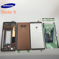 Original new Samsung Galaxy NOTE 9 N960 N960F Full Housing Case Back Cover Front Screen Glass Lens+Middle Frame Complete Parts|Mobile Phone Housings & Frames| |  -