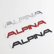 3D Metal ALPINA Letter Car Trunk Rear Emblem Sticker For E46 E60 E90 E36 E53 E30 E34 F10 F30 1 3 5 7 M X Z Car body Stickers