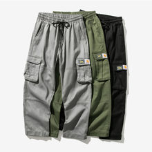 Men's Overalls, Fashion Casual Multi-Pocket Pants, Spring And Autumn Men's Casual Pants, Small Feet Overalls