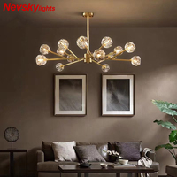 Minimalist crystal chandeliers lighting luxury chandeliers living room  pendant lamps dining light fixtures ceiling chandeliers