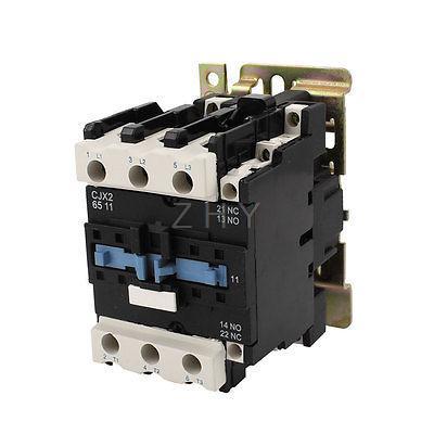 220V Coil Volt Air Condition 3 Phrase 1NO 1NC AC Contactor CJX2 6511