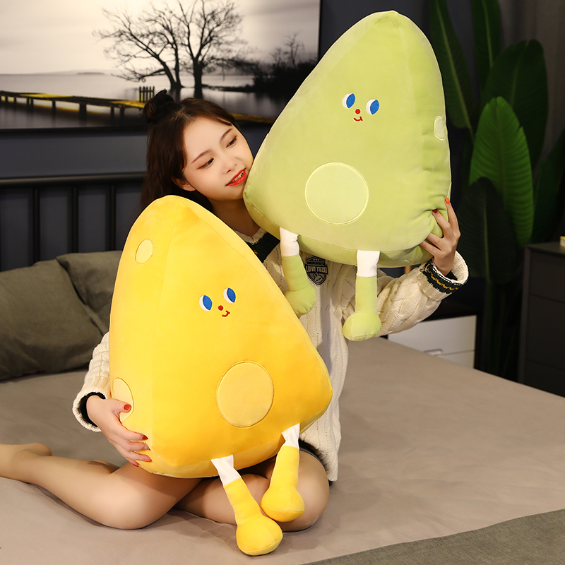 Cheesy Pillow Plush Toys Soft Alfredo Stuffed Mozzarella Doll Cartoon Cheese Birthday Valentines Day Gifts For Girls Kids Just6F