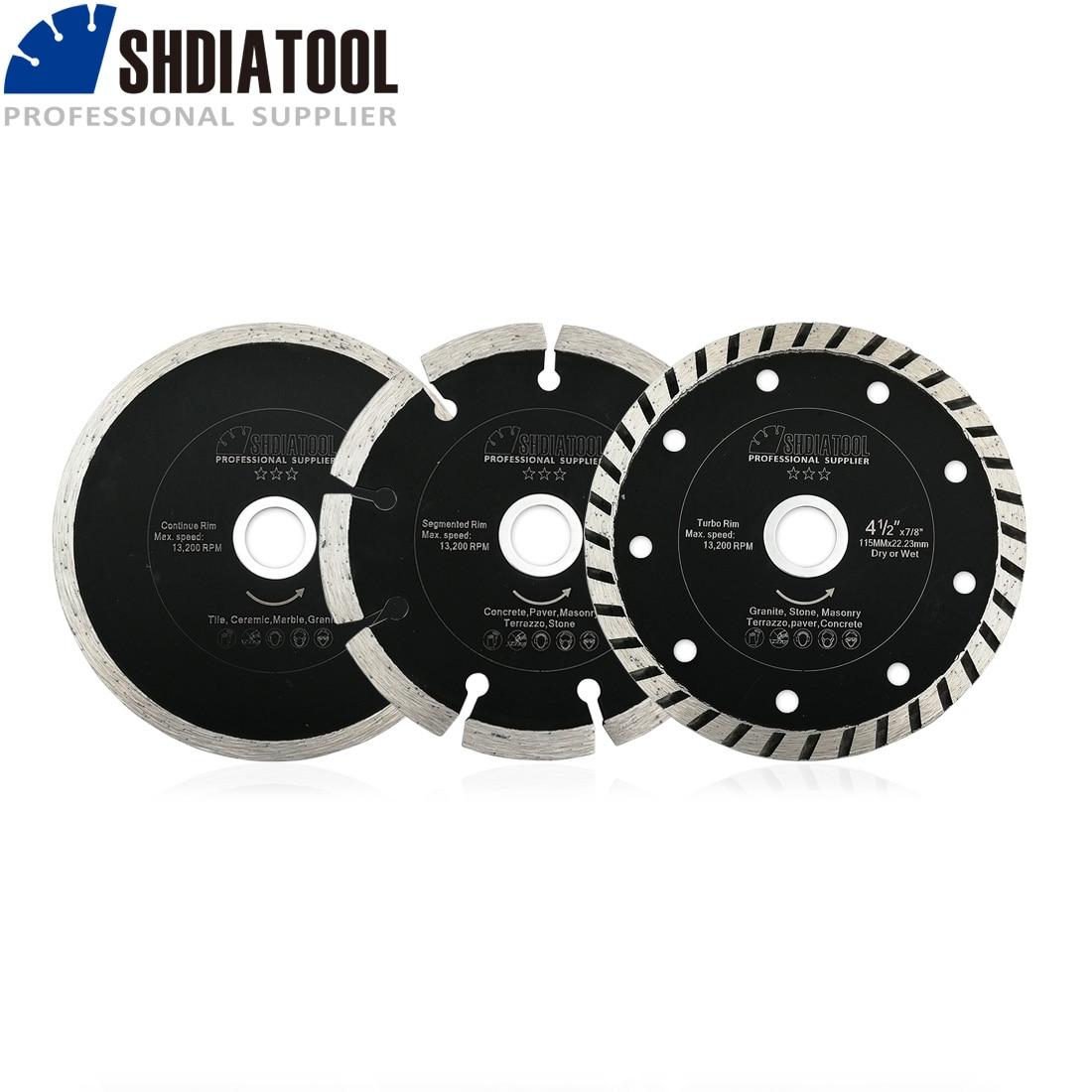SHDIATOOL 3pcs/setDia 115mm/4.5