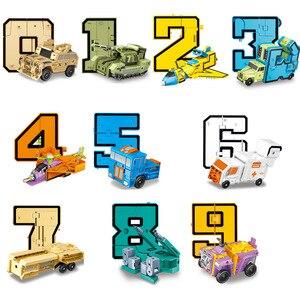 Image 5 - مصغرة 26 قطعة الحروف و 0 إلى 9 أرقام روبوت تشوه الأبجدية التحولات تجميعها هدية عيد ميلاد الاطفال ألعاب تعليمية