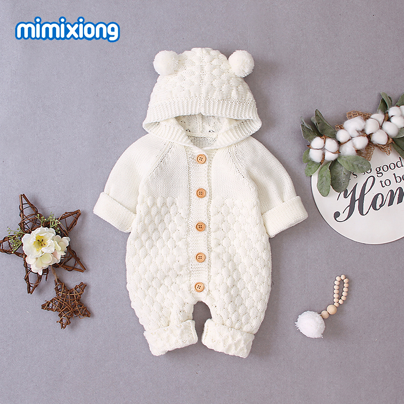 Baby   Rompers   for Newborns Unisex Knitted Jumpsuits Autumn Infant Bebes Boys Girls Overalls Long Sleeves Toddler Children Outfits