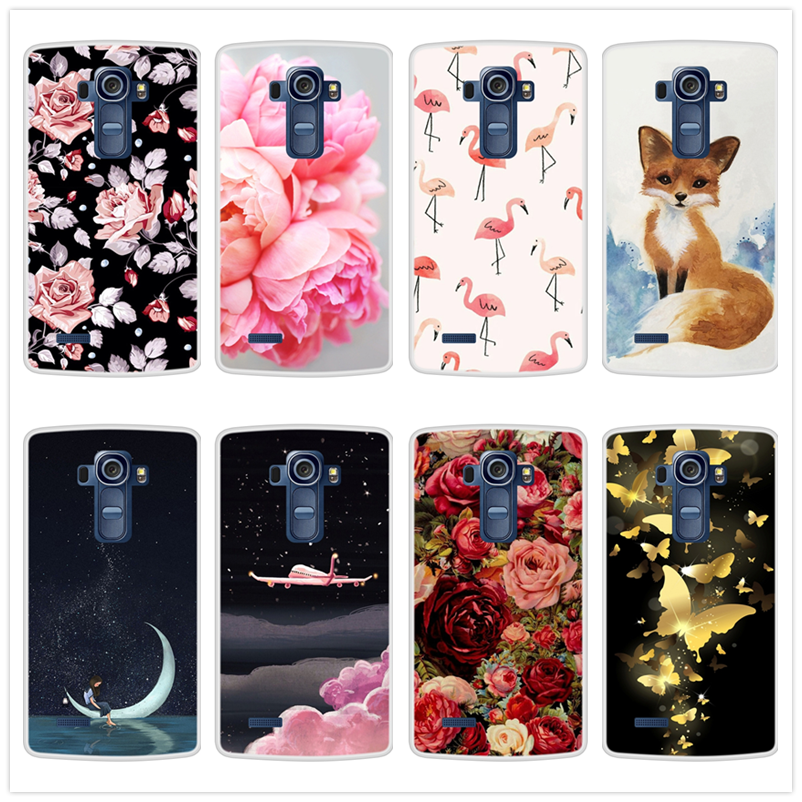 Case for LG G4 Soft Silicone TPU Cool Design Pattern Painted Phone Cover Coque for LGG4 H815 Cases image