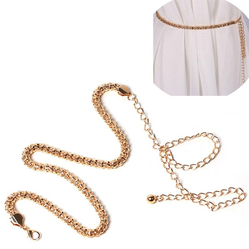 Retro Gold Belts For Women Pearl Belt Waistbands Long Tassel For Party Jewelry Dress Waist Chain Pendant Belts