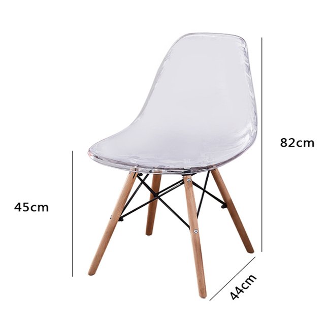Dining Room Wood Transparent Chair 6